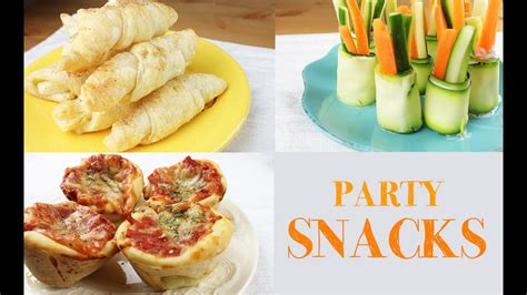 easy snacks for party snack ideas easy and fast to make youtube