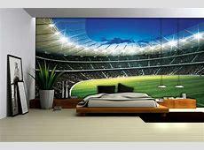 Football Stadium Wallpaper Mural 323VE Football Bedrooms