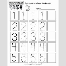 This Is A Numbers Tracing Worksheet For Preschoolers Or Kindergarteners You Can Download, Print