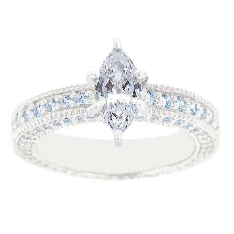 wedding rings diamond district nyc new york city diamond district 14k white gold marquise