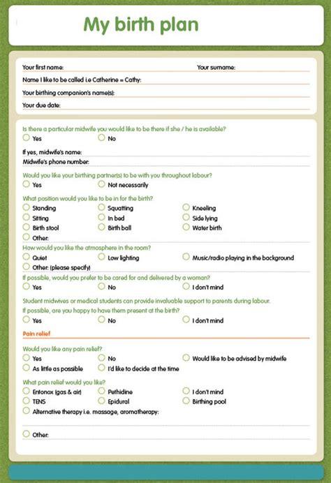 birth plan template    documents