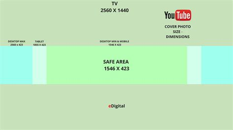 Google Cover Photo Size by New Optimal Youtube Cover Photo Size 2018 Edigital