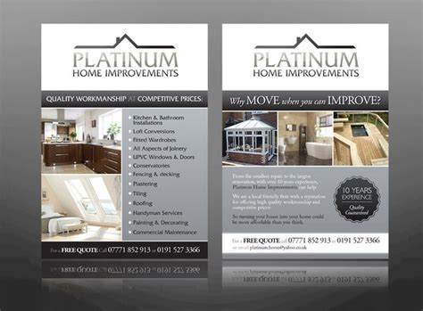 sample home improvement flyers info  paying  house
