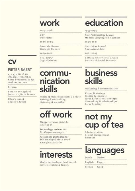 Cool Resume by 27 Magnificent Cv Designs That Will Outshine All The