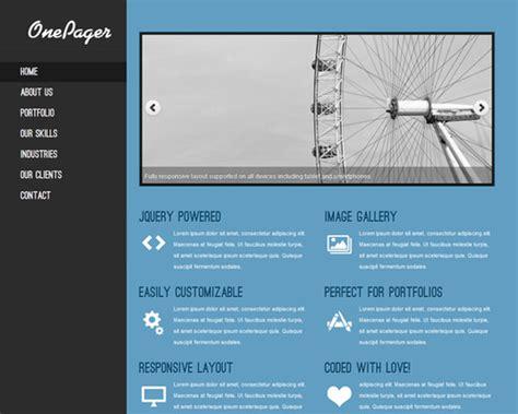 onepager  single page wordpress theme themeshakercom