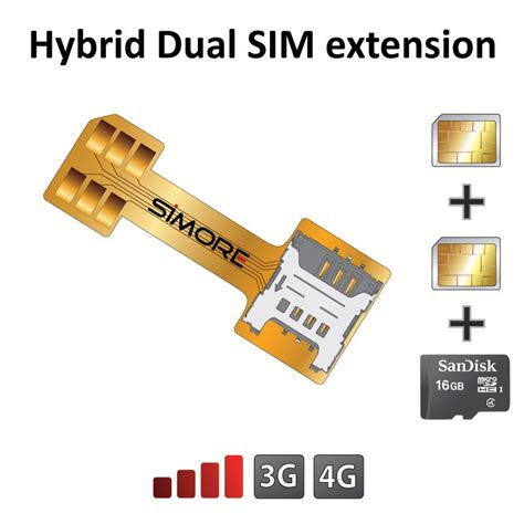 extender sim card extension adapter  hybrid dual sim