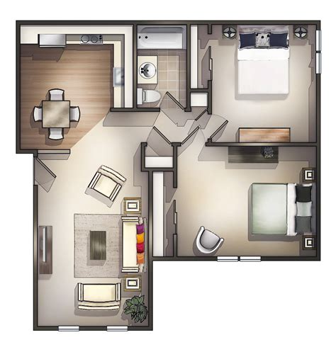 2 Bedroom Small Apartment Design by How To Decorate Two Room Apartment Theydesign Net