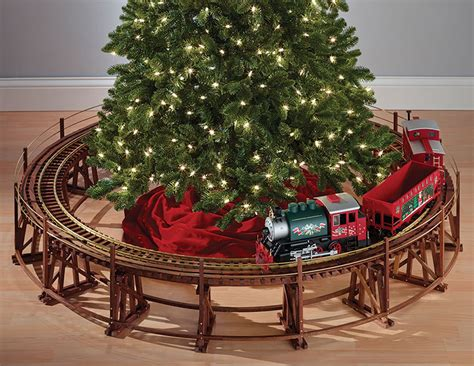 manhattan railway christmas tree train trestle set the