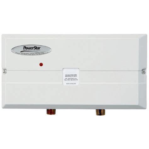 120 volt tankless water heater shop powerstar powerstar 240 volt 9 5 kw 1 5 gpm point of
