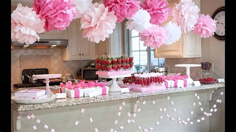 cute girl baby shower decorations youtube