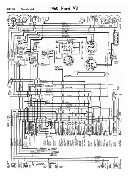 1960 Thunderbird Wiring Schematic by 60 T Bird Wiring Diagram Squarebird