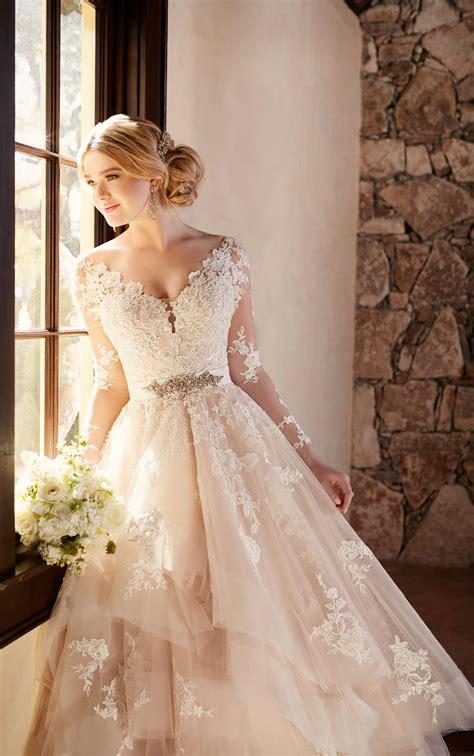 sleeved wedding dresses wedding dress  long illusion