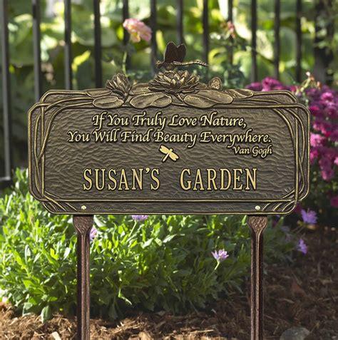 wooden garden plaques personalized garden plaque with poem