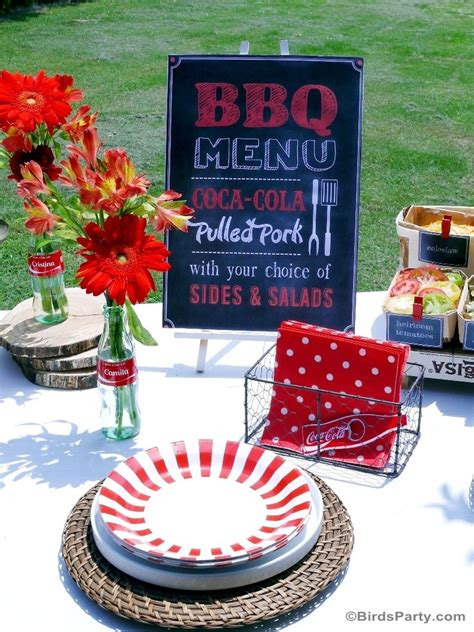 bbq grilling cookout party printables supplies