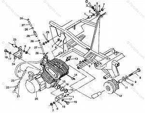 Polaris Atv 1993 Oem Parts Diagram For Engine Mounting 4x4