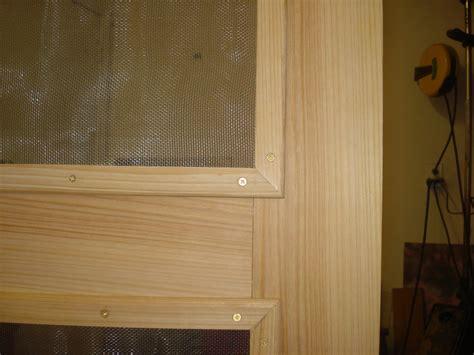 cypress screen door  mortise tenon drawbore joints