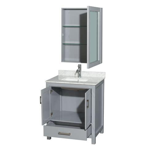 transitional bathroom vanity cabinets accmilan 30 inch transitional grey finish bathroom vanity set