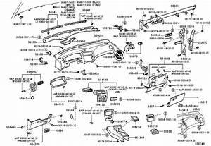 1993 Toyota Corolla Garnish  Defroster Nozzle  No  2