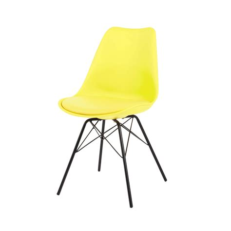 chaise metal maison du monde polypropylene and metal chair in yellow coventry maisons