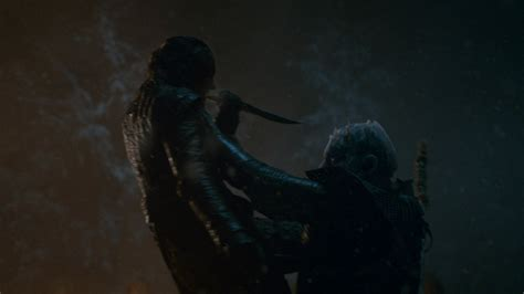 game  thrones  arya killed  night king time