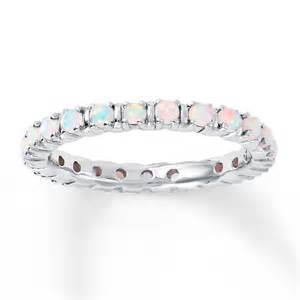 stackable personalized rings jared stackable ring lab created opals sterling silver
