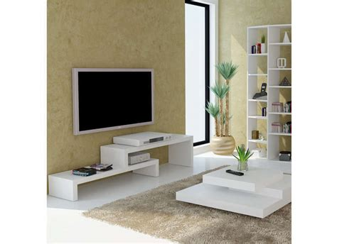 canapé modulable design meuble tv design blanc 125 cm skien