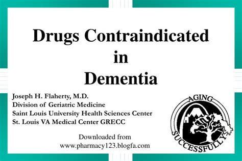 Ppt Drugs Contraindicated In Dementia Powerpoint