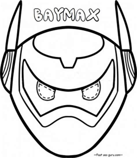 printable big hero  baymax armor mask coloring pages cut