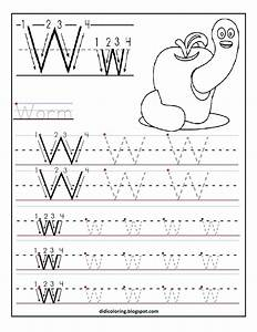 alphabet tracing worksheets for kindergarten letters With preschool learning to write letters