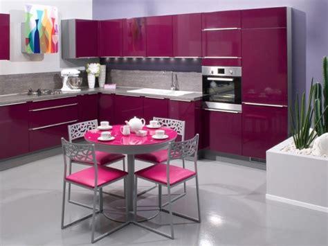cuisine girly cuisines aviva cuisine girly de couleur aubergine idéesmaison com