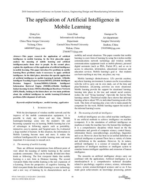 Artificial intelligence in mobile learning