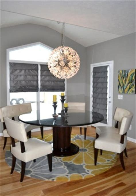 Yellow and Gray Great Room (living room, eat in kitchen