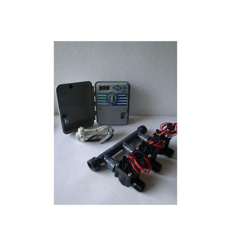 kit con 3 elettrovalvole programmatore xch sensore pioggia