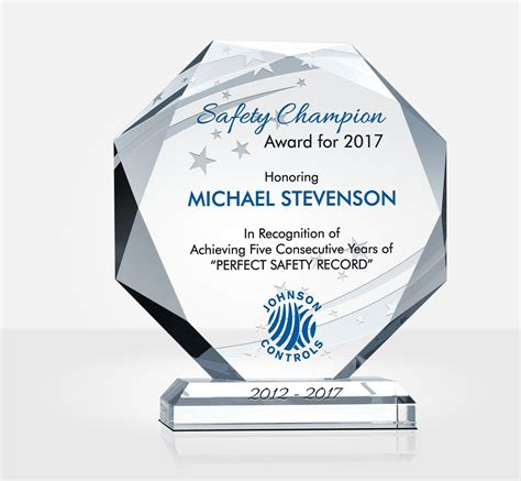 octagon safety recognition plaque safety incentive ideas