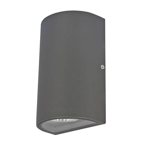denver ii up down led wall light brilliant lighting