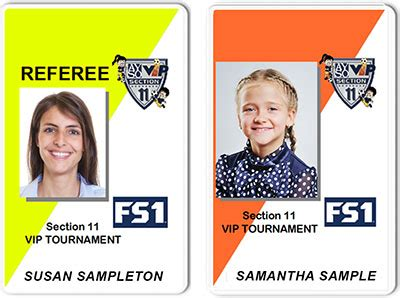ayso id cards soccer player  coach id cards  ayso