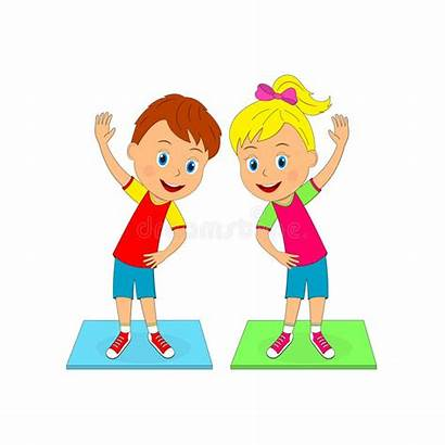 Exercise Clipart Clip Exercising Doing Exercises Boy
