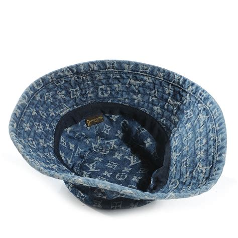 louis vuitton monogram denim bucket hat