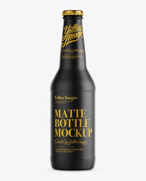 Download 65 spray bottle mockup free vectors. 330ml Matte Beer Bottle Mockup in Bottle Mockups on Yellow ...
