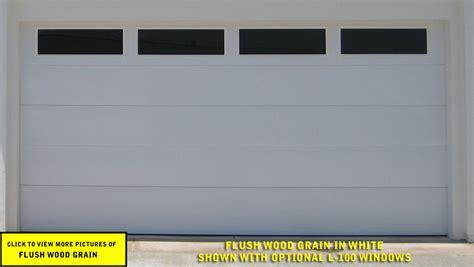 flush wood grain garage door
