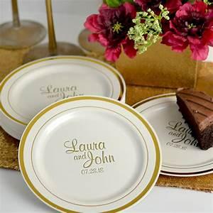 7 In Gold Trim Plastic Dessert Plates Personalized My