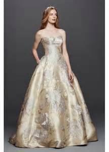 bridal registry ideas list oleg cassini brocade wedding dress with pockets davids