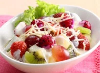 membuat salad buah  diet enak sederhana resep nasional