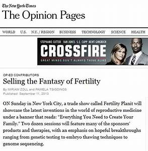 Selling the Fertility Fantasy - New York Times Op-Ed