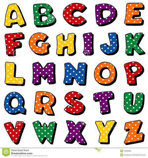 of all alphabet letters stock vector image 32655280 polka dot alphabet royalty free stock image image