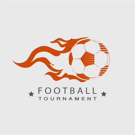 Football Soccer tournament logo ball on fire - Custom