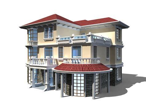 home design cad three floor home design 3d model 3ds max files free