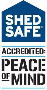 totally sheds shedsafe accredited