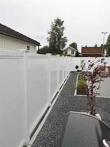 Sichtschutzzaun Aus Kunststoff : sichtschutzzaun aus kunststoff wei in verschiedener optik ~ Watch28wear.com Haus und Dekorationen
