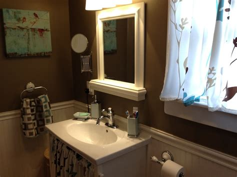 Brown And White Bathroom Ideas Chocolate Brown White Wainscoting Bathroom Ideas Other Brown Bathroom And We